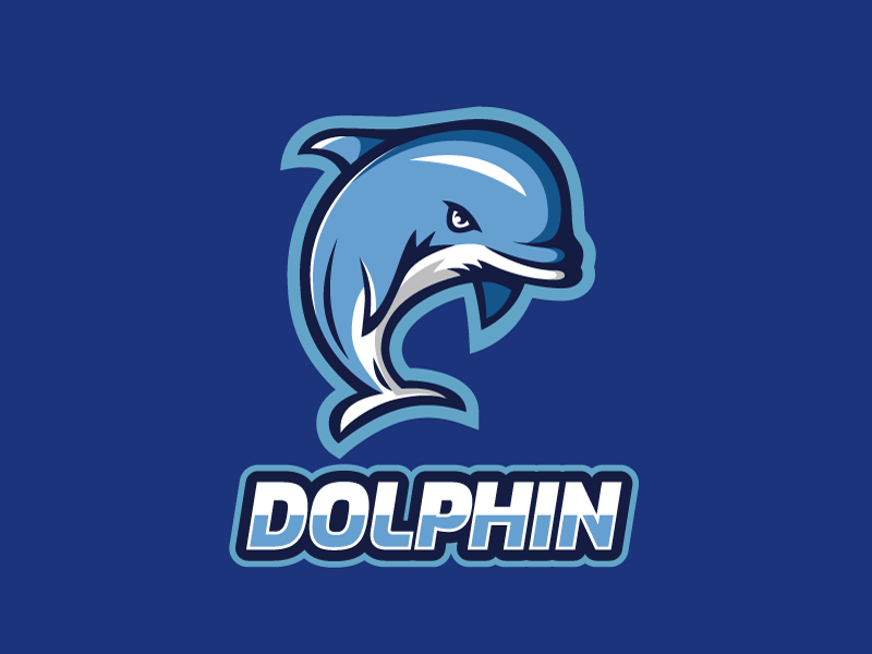 Dolpin illustration logo