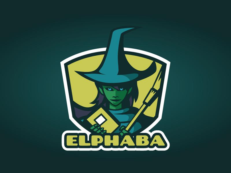 Elphaba illustration logo