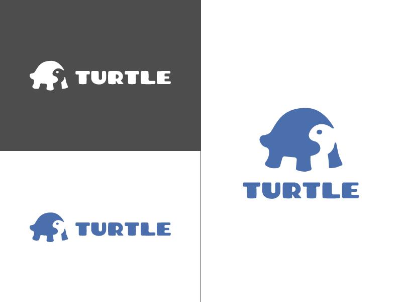 Turtle logo logo illustration