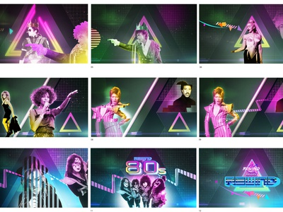 80s Parties Storyboard for LIVENATION