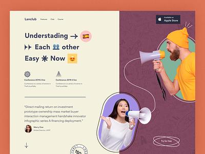 language landing page edtech learn b2b b2c startup responsive website awwwards modern trend design web ui landingpage mobile app ios saas design language