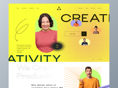 Creative hunt landing page ui web design product landing page branding mobile app dashboard trending design glassmorphism google dribbble startups talent hiring hr software saas landing page agency website saas startup job finding resume agency