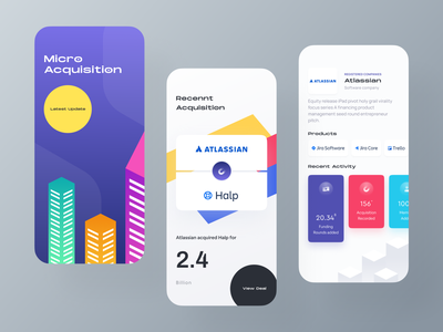 Business acquisition app IOS ui business app launch halp acquision atlassian product consultancy analytics acquisition shot startup google dribbble shot business branding ui ux product landing page ios android illustration dashboard mobile app