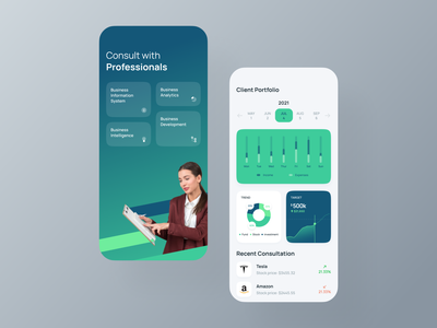 Business consultancy IOS app UI app app design app ui analyticschart appdesign figma template freebie minimal design business portfolio professional services graph design analytics google dribbble design startup creative design product landing page ux ios android dashboard mobile app