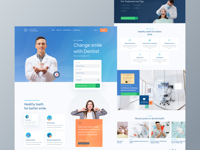 Dental landing page ui health app mobile app design google dribbble design template dentist patient booking doctor healthtech healthcare web design creative design ui product ios android ux landing page dashboard mobile app