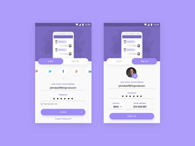 sign up/log in screen freebie product illustration landing page icon vector admin panel logo mobile app mobile sign in free file free download freebie ui ux app design android ios log in sign up
