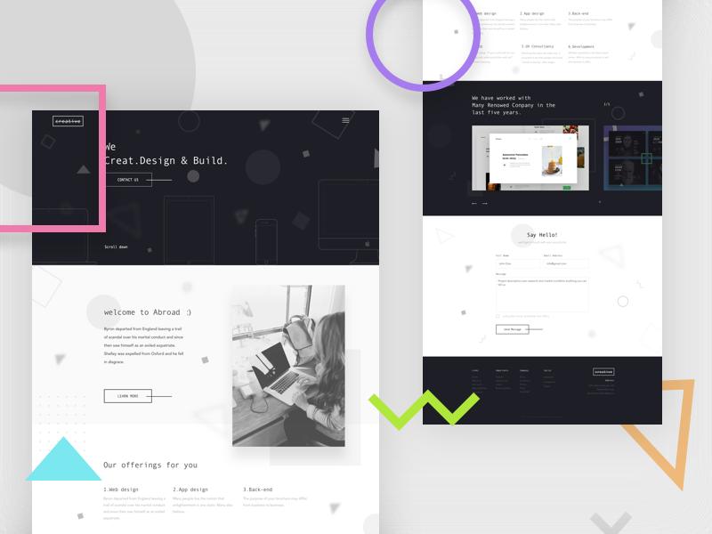 Agency landing design - a web design Challenge