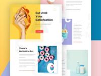 Food creative landing page design