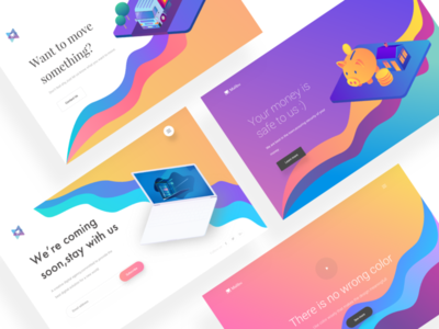 Hero header design exploration branding dashboard web design product illustration ios mobile app android exploration brutal design colorful trend design modern design gradient mockup landing page web hero header ux ui