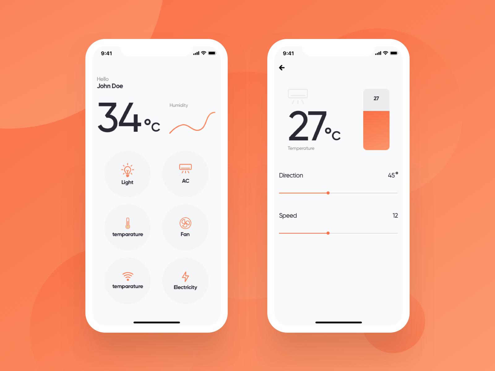 Smart home app ui attachment