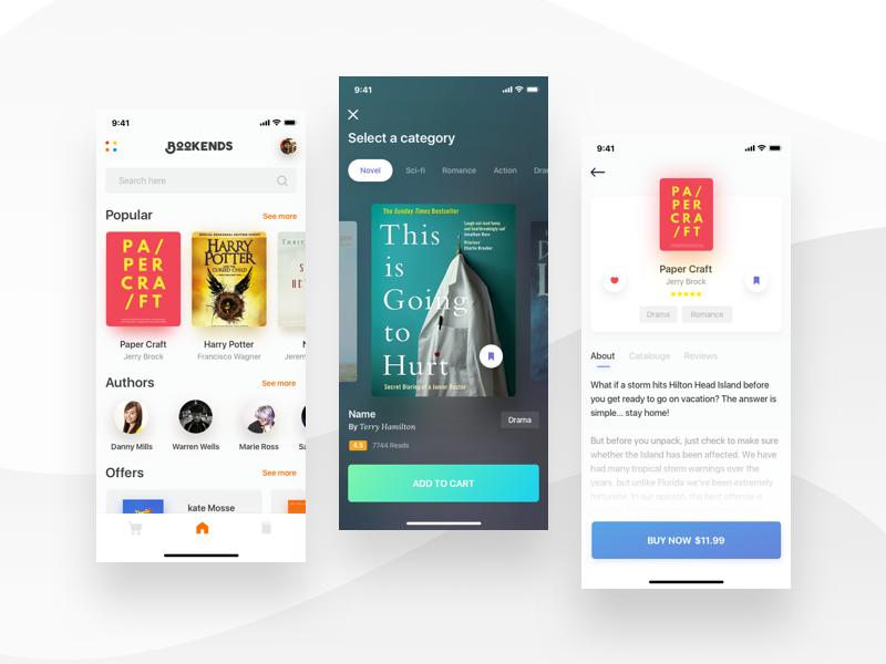 Book Store app design by Shourav Chowdhury🔥 on Dribbble