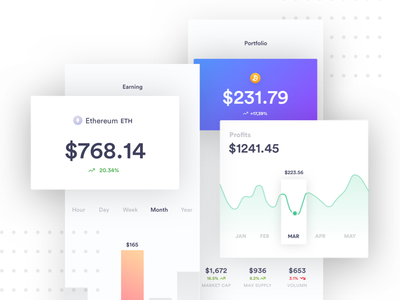 Cryptocurrency app Exploration icon minimal logo design creative design web design landing page illustration cryptocurrency ux ui mobile app android ios financial data science dashboard admin panel chart product