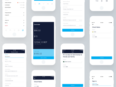 Remittance app design-3 web design animation branding icon financial dashboard design product logo typography chart landing page minimal creative design illustration mobile app ios android ux ui