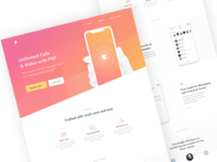 Messaging app landing page design