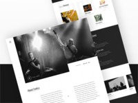 Funk.y musical band landing page