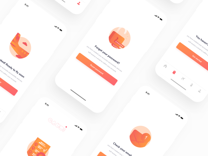 Gauri Travel iOS app UI Kit ui kits colorful minimal typography branding icon vector hotel flight ticket booking travel creative design web design ios dashboard ux android illustration mobile app