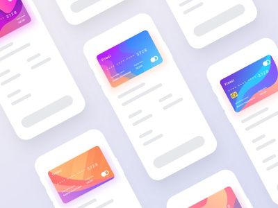 Finaci Financial debit/credit ui card-2 colorful card debit credit app icon logo ui ux agency data science financial colorful typography vector branding design web design creative design product landing page ios android dashboard illustration mobile app