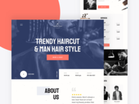 Barber shop landing page design