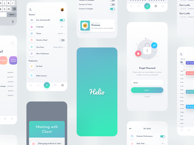 To-do list app design ui kit pack ui8 mockup gradient popular ionic hybrid landing page to-do list app productivity nice100 agency team modern trendy minimal animation interaction icon branding logo illustration colorful responsive dashboard adminpanel mobile web tablet app android ios uiux