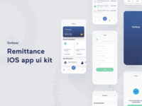 Remittance IOS app design app ui kit