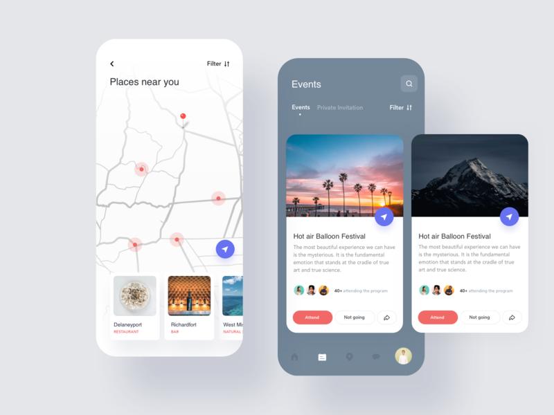 Social ios app ui design by Shourav Chowdhury🔥 for NICE 100