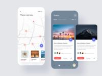 Social ios app ui design