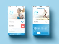 UI UX design startup white blue filter purifier simple mobile ui air pure