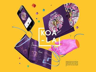 Koala Band   Cover Album By Isa Indra Permana indonesia jazz art pop editorial music illustration design album cover