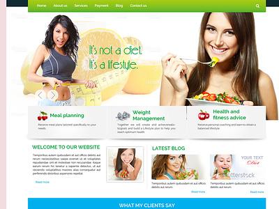 weight loss theme inspiation inspiration ui  ux responsive landing page website website template design template html website seo friendly website custom template dynamic website