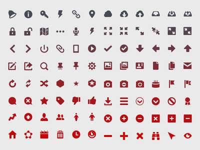 Backplane Icons icons icon set bell lightening map ui elements