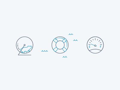 Error States empty gauge error state gauge buoy hamster error iconography icon