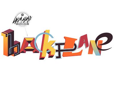 Splashwall type typography graffiti backplane kamanski illustrator mural