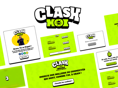 Clash website branding ui