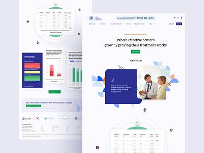 Addiction treatment homepage design minimal visual design web visual ui clean