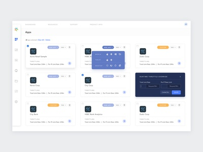 AppFactory Dashboard (Mobile backend application)