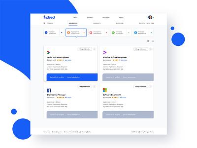 job portal visual design design ui application ux-ui webdesign minimal clean uiuxdesign uidesign web visual jobs