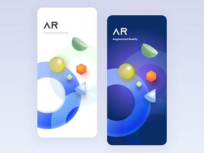 AR    Splash UI augmentedreality splashscreen visual design ui minimal clean ios app