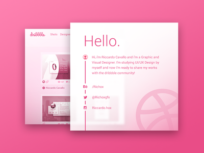 Hello Dribbble! ui design interface ux ui welcome first shot first hello invite dribbble