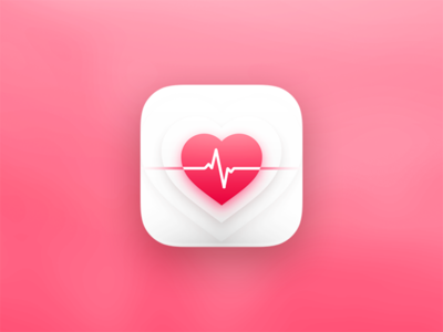 heart rate app icon by riccardo cavallo dribbble