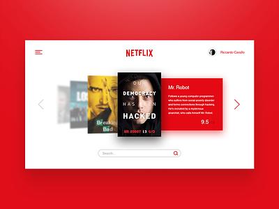 Netflix TV App. 025 daily ui ux ui red app tv netflix