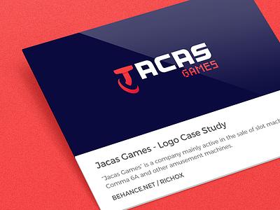 Logo Case Study - Jacas Games behance blue red case study design logo