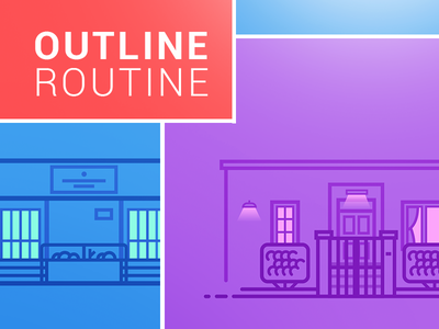 Outline Routine. home project behance colors workstation setup buildings architecture routine outline