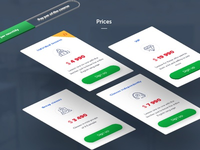 Pricing web ux ui sale prices plan payment page material landing interface english