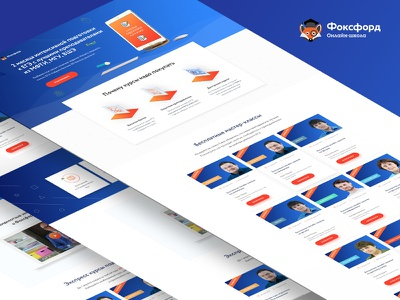 Online Course foxford clean course interface landing material page cards ui ux web