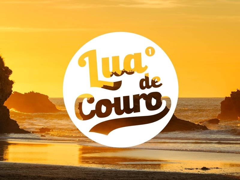 Lua de Couro - Batizado biarritz euskadi zetafonts bulleto capoeira badge logo adobe illustrator