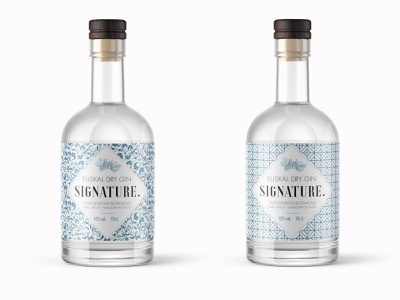Signature Gin montpellier futura xants adobehiddentreasures adobe photoshop adobe illustrator euskadi gin ornaments patterns branding packaging packagedesign package
