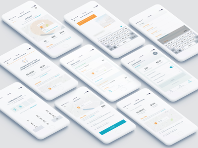 Track Assignments search otp ux map minimal clean app employee track profile timer message expense