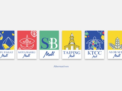 Malls of Malaysia: Identity Project illustration graphic  design design logo