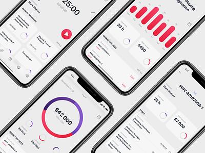 Timetracker iOS UI Kit vector ios apple design interace apple uiux designer uiuxdesign uiux uitrends uiinterface interface design dribbble ux ui typography minimal flat design concept app