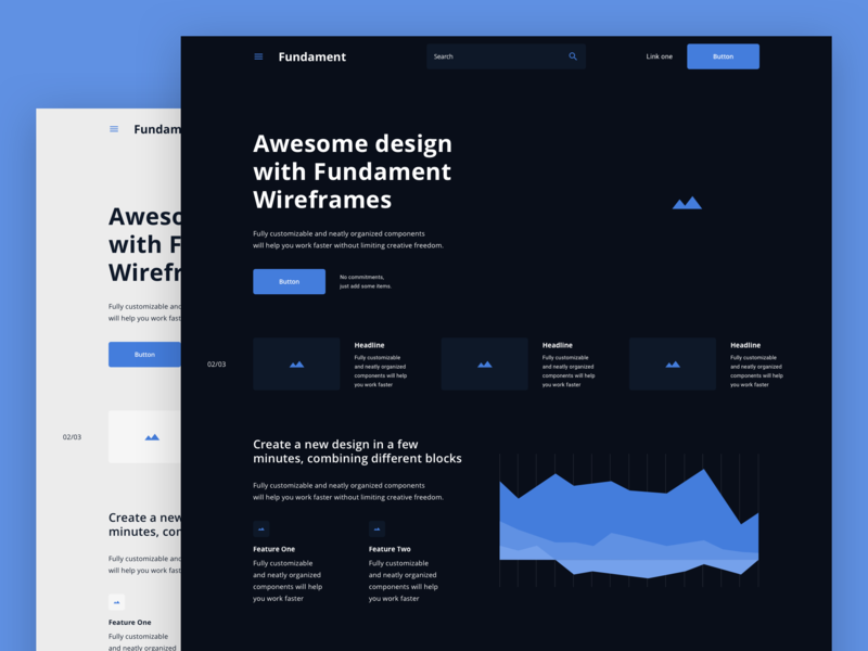 Fundament Web Wireframe Kit apple interface design uiux designer uiuxdesign uiux uitrends uiinterface interace dribbble website web ux ui typography minimal flat design concept app